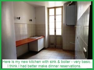 no kitchen