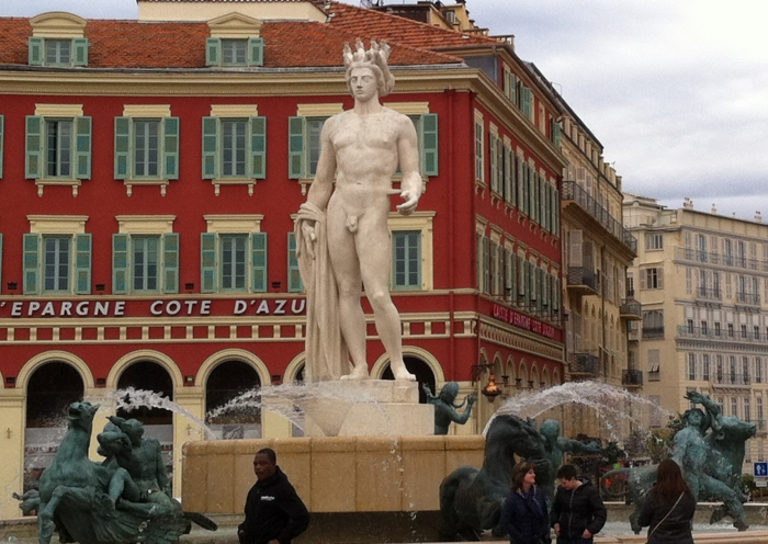 Apollo, sun fountain, Nice, France