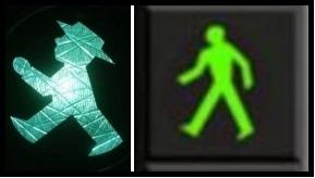 Green traffic lights pedestrian