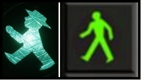 Green traffic lights pedestrian