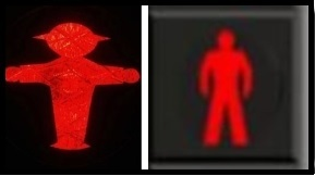 red traffic light men