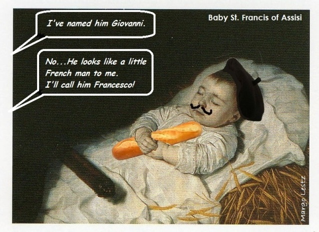 Baby St Francis of Assisi