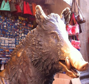 il porcellino, bronze pig fountain, Florence Italy