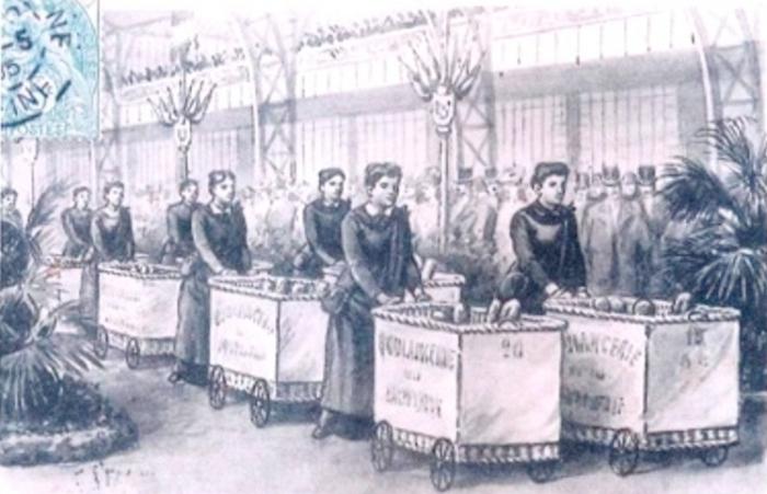 porteuse de pain, bread delivery women