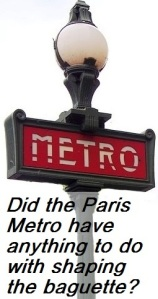 Paris metro and baguette