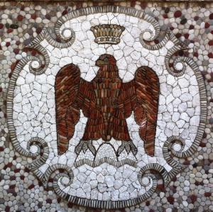 Nicois Eagle, Albert I, Mosaics on the hill, Nice, France