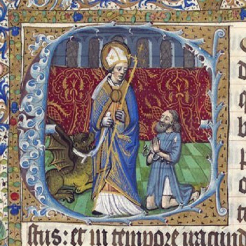 St Romain and gargoyle, gargouille