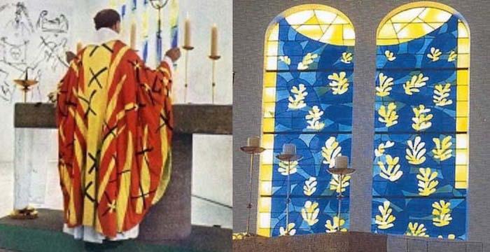 priest & window matisse chapel