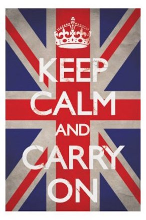 Keep Calm on british flag