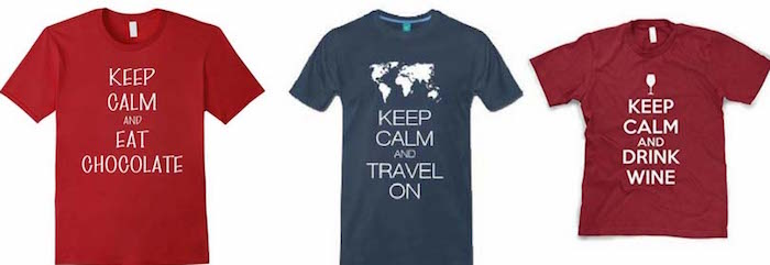 Keep Calm t shirts