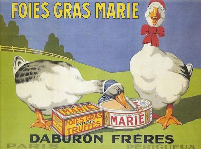 foie gras vintage advertising